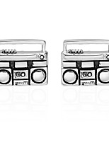 cheap -Radio Silver Cufflinks Copper Casual Basic Daily Formal Men's Costume Jewelry