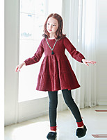 cheap -Girls' Solid Pants,Polyester Winter Fall Cute Active Black Blushing Pink Gray Yellow Wine