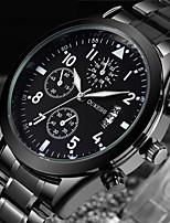 Недорогие -Муж. Модные часы Нарядные часы Наручные часы Японский Кварцевый Календарь Нержавеющая сталь Группа Роскошь Cool Черный