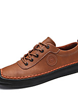 cheap -Men's Shoes Leather Winter Fall Formal Shoes Oxfords for Casual Party & Evening Brown Gray Black