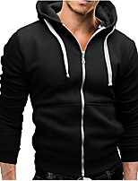 cheap -Men's Plus Size Daily Sports Casual Street chic Hoodie Solid Hooded Hoodies Micro-elastic Cotton Long Sleeve Spring/Fall