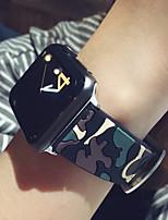 abordables -Bracelet de Montre  pour Apple Watch Series 3 / 2 / 1 Apple Sangle de Poignet Bracelet Sport Silikon