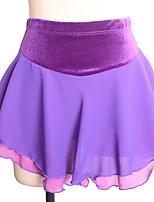 economico -Vestito da pattinaggio artistico Per donna Pattinaggio sul ghiaccio Gonne Nero Blu Lilla Anelastico Prestazioni Esercitazione Vestiti da