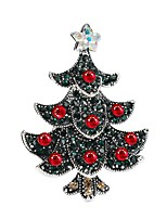 cheap -Women's Brooches AAA Cubic Zirconia Classic Bohemian Sweet Zircon Alloy Tree of Life Jewelry For Christmas Festival