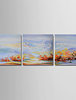 cheap -Hand-Painted Landscape Horizontal, Simple Modern Canvas Oil Painting Home Decoration Three Panels