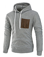 cheap -Men's Daily Street chic Hoodie Solid Hooded Micro-elastic Cotton Polyester Long Sleeve Spring/Fall