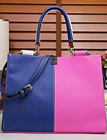 cheap -Women Bags PU Cowhide Tote Zipper for Casual All Season Blushing Pink Red Black White Blue