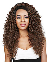 cheap -Women Synthetic Wig Medium Length Curly Black/Medium Auburn Natural Wigs Costume Wig