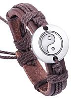 preiswerte -Herrn Armband , Asiatisch Klassisch Cool Leder Aleación Kreisform Schmuck Normal