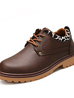 cheap -Men's Shoes PU Fall Comfort Combat Boots Oxfords for Casual Outdoor Brown Yellow Black