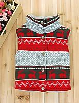 Girls' Print Vest Gray Red