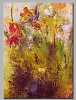 abordables -Pintada a mano Abstracto Vertical,Modern Lienzos Pintura al óleo pintada a colgar Decoración hogareña Un Panel