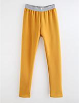 cheap -Girls' Solid Polka Dot Striped Pants,Cotton Spring, Fall, Winter, Summer White Blushing Pink Dark Gray Yellow