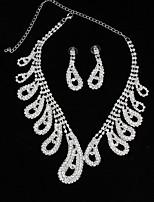 abordables -Mujer Gota Moda Gargantillas Collares de cadena Cristal Legierung Gargantillas Collares de cadena , Boda Fiesta