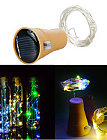 cheap -10LED Solar String Wine Bottle Stopper Copper Fairy Strip Wire Outdoor Party Decoration