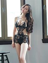 Ultra Sexy Vêtement de nuit Femme,A Bretelles Solide-Fin Translucide Nylon Blanc Noir