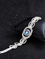 cheap -Women's Chain Bracelet Synthetic Sapphire Rhinestone Vintage Elegant Crystal Circle Jewelry Wedding Evening Party