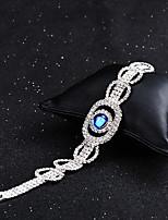 economico -Per donna Bracciali a catena e maglie Sapphire sintetico Strass Vintage Elegant Cristallo Circolare Gioielli Matrimonio Evento