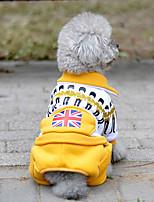 abordables -Perro Mono Ropa para Perro Casual/Diario Bandera Nacional Amarillo Rojo Verde Azul Disfraz Para mascotas