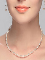 cheap -Women's Circle Simple Choker Necklace Crystal Imitation Pearl Choker Necklace , Wedding Party
