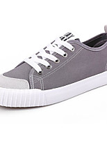 cheap -Women's Shoes Canvas Spring Fall Comfort Sneakers Low Heel for Casual Khaki Gray Black White