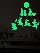 Недорогие -Животные Мультипликация Наклейки Простые наклейки Декоративные наклейки на стены,Винил Украшение дома Наклейка на стену Стена Окно