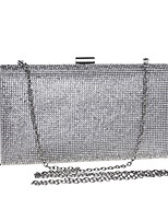 Women Bags Polyester Evening Bag Crystal Detailing for Wedding Event/Party All Season Silver Gold