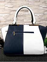 cheap -Women Bags PU Tote Zipper for Casual All Season Dark Blue Red Black White
