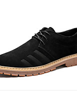 cheap -Men's Shoes Suede Spring Fall Comfort Oxfords for Casual Khaki Black