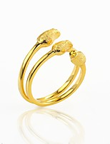 cheap -Men's Women's Cuff Ring  Floral Fashion Cool Gold Plated Flower Jewelry Party Club