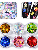 cheap -Six-piece Suit Glitters Sequins Multi-Colored Nail Art Drill Kit