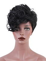 Synthetic Short Pixie Cut Wigs for Black Women Wavy Heat Resistant Hairstyle