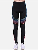 abordables -Pantalones de yoga Medias/Mallas Largas Transpirabilidad Cintura Media Eslático Ropa deportiva Mujer Yoga Jogging Pilates Ejercicio y