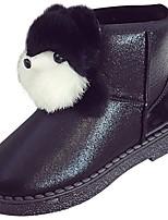 Недорогие -Для женщин Обувь Полиуретан Зима Осень Удобная обувь Зимние сапоги Ботинки На плоской подошве Круглый носок Сапоги до середины икры для