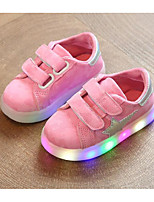 cheap -Girls' Shoes PU Winter Fall Comfort Sneakers Walking Shoes Magic Tape for Casual Gray Green Pink