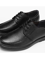 cheap -Men's Shoes PU Winter Fall Comfort Oxfords for Casual Black