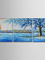 cheap -Hand-Painted Landscape Horizontal,Simple Modern Canvas Oil Painting Home Decoration Three Panels