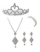 abordables -Mujer Para la Cabeza Los sistemas nupciales de la joyería Cristal Europeo Moda Boda Fiesta Diamante Sintético Legierung Forma Geométrica