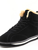 cheap -Men's Shoes Fabric Winter Fall Fluff Lining Comfort Sneakers for Casual Outdoor Blue Brown Black
