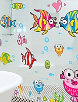 cheap -Lovely Small Bedroom Warm Funny Cartoon Stickers Glass Cathroom Waterproof Bathroom Tiles
