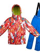cheap -Boys' Girls' Ski Jacket with Pants Warm Ventilation Windproof Wearable water-resistant Ski / Snowboard Multisport Snowshoeing Winter