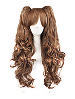 cheap -Women Synthetic Wig Long Wavy Flaxen With Ponytail Lolita Wig Costume Wig