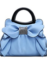 Women Bags PU Tote Bow(s) for Casual Office & Career All Season Sky Blue Fuchsia Beige Blushing Pink Red