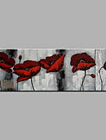 cheap -Hand-Painted Floral/Botanical HorizontalModern Canvas Oil Painting Home Decoration One Panel