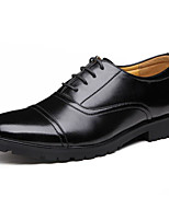 baratos -Masculino sapatos Pele Primavera Outono Conforto Oxfords para Casual Preto