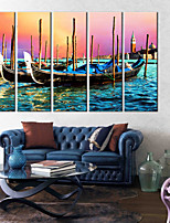 Canvas Print Modern,Five Panels Canvas Vertical Print Wall Decor For Home Decoration