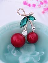 abordables -Mujer Broche Perla artificial Cristal Fruta Dulce Encantador Legierung Joyas Para Navidad Boda