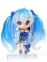 economico -anime action figure ispirate al vocaloid snow miku pvc modello da 10 cm giocattolo bambola