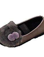 cheap -Girls' Shoes Suede Winter Fall Comfort Flats Pom-pom for Casual Gray Black