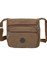 cheap -Unisex Bags Canvas Crossbody Bag Zipper for Shopping Outdoor All Season Green Black Coffee Khaki